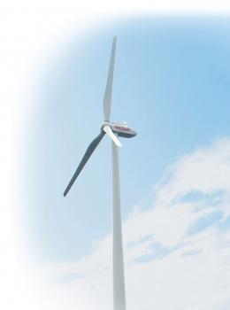 ワタミ ファーム&エナジーでは、秋田県に3基の風力発電を設置し自然エネルギー事業に取り組む。このほか、北海道厚真町でのメガソーラー(15MW)事業にも着手している