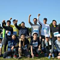 3チーム15人で15km(5区間)のコースを完走した